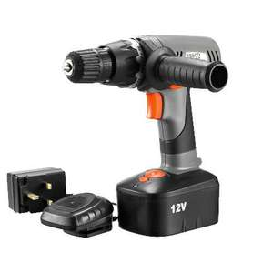 Tesco 12v Cordless Drill for £12.96 @ Tesco direct Online FREE DELIVERY TO LOCAL STORE