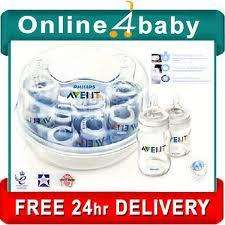 NEW PHILIPS AVENT EXPRESS MICROWAVE STERILISER, 2 Complete Bottles with teats + Soother - £14.95 Delivered @ Ebay / online4babyltd