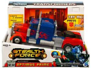 Transformers Stealth Force Optimus Prime £11.99 from £31.99 The Entertainer