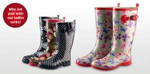 Ladies' Fashion Wellies (4 patterns) just £10.99 at Aldi from Thursday 24 November.
