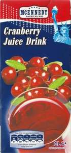 Cranberry Juice drink 69 pence a liter at Lidl - HIGH JUICE CONTENT