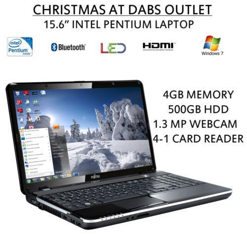 "Fujitsu AH531 15.6"" Intel Pentium Win7 4GB Ram 500GB HDD DVD HDMI Bluetooth Webcam Laptop £279.96 @ dabs outlet (ebay)"
