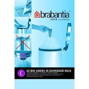 Brabantia Smartfix Bin Liners, Size C, 10-12 Litre, 40 Bag Dispenser Pack - £2.86 DELIVERED at Amazon