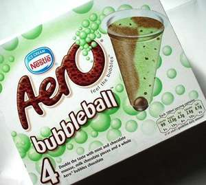 Aero Bubbles 3 packs of 4 for 1.00 at Heron Foods