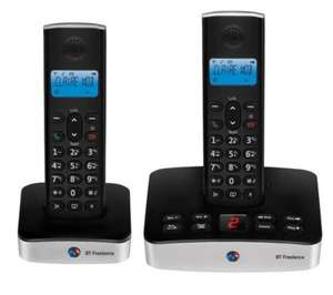 Bt freelance xd7500 cordless digital telephone with answer machine (twin pack)  £34.99 @ Currys