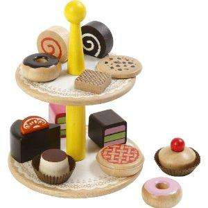 Wooden Cakes and stand £8.40 delivered FREE at Amazon
