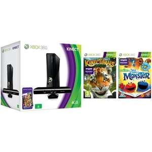 XBOX 360 + Kinect + Kinect Adventures + Kinectimals + Sesame Street + Free Delivery = £249.99 @ Play.com