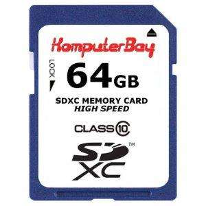 Komputerbay 64GB SDXC High Speed Class 10  Card 15MB/s Write 20MB/s Read 64 GB £49 Delivered from Kompbay@Amazon