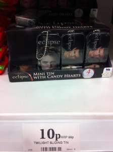 Twilight Eclipse Mini Sliding Tin with 12g candy hearts - 10p @ Home Bargains