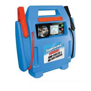 Silverline 234578 900 Amp 12 Ah Jump Starter and Air Compressor @ Amazon free delivery