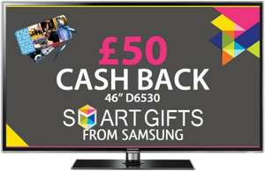Samsung UE46D6530 Full HD LED 3D tv from Pixmania £969.....£1099 in currys.....+ 4% Quidco + £50 Samsung Cash back + £50 free SMART content !....Plus £12 off with Pixmania Code !