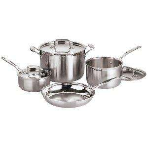 Cuisinart MulitClad Pro Stainless Steel 4 Pan Set £93 + £5.99 P&P @ Ideal World  (Amazon £188)