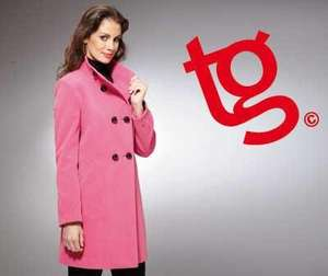 LADIES DOUBLE BREASTED CERISE COAT £11.58 Delivered @ Halfcost
