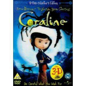 Coraline - 2 Disc Limited Edition (Includes the 2D and 3D Version and 4 Pairs of 3D Glasses) [DVD] £1.79 delivered @ Bee