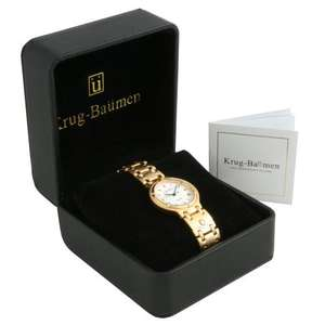 Krug Baumen Mens Charleston Gold Watch 5116KM £28.99 @ watches2u