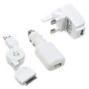 amazon free delivery  White 3-in-1 Charger For All iPod's & iPhones (Car charger, Usb, Mains charger) £2.49 @ Amazon