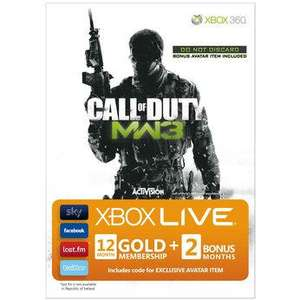 Call of Duty Modern Warfare 3 Xbox 360 plus 12 months Live Gold membership £39.99 at Toys R Us