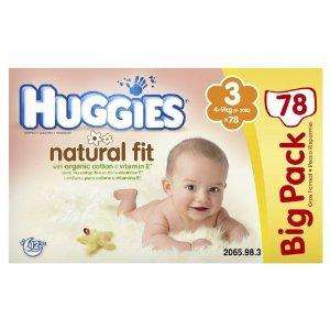 big packs of natural fit Huggies nappies (sizes 3/4/5) £6.30 delivered @ Amazon! (subscribe & save)