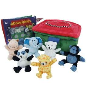 Let's Save! Animals Gift Set (Cloth Book with 6 plush toys and soft carry case) only £8.99 delivered @ Red House