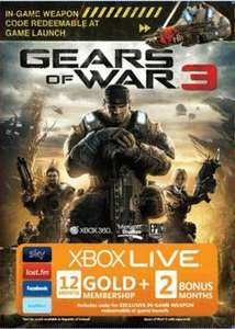 Xbox Live 12 + 2 months - Gears 3 Branded - £31.14 delivered @ Game