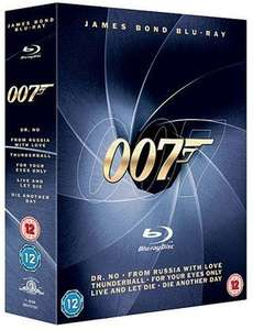 James Bond 007 six film Blu ray collection  Zavvi £14.95