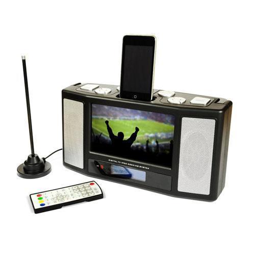 "Disgo 7"" Portable Digital TV / iPod Dock / FM radio / Multimedia Player / Alarm Clock £49.99 Delivered @ Play"