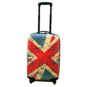 Union Jack  style hard suitcases from £15 Tesco collect
