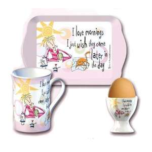 Born To Shop: Time For Breakfast Set: I Love Mornings was £9.99 now £3.99 at Play.com