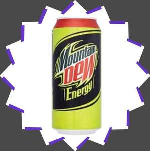 Sugar Free Mountain Dew - 440 or 500ml cans - 2 for £1 in Poundland