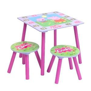 Peppa Pig Table & Stool Set £22.98 delivered @ Home Bargains