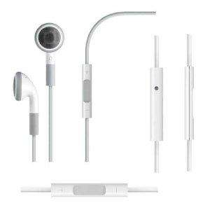 Apple iPhone or Ipod Headphones With Remote Mic & Volume Controls free