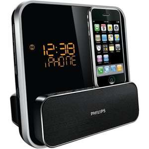 NEW PHILIPS DC315/05 CLOCK RADIO WITH IPOD/IPHONE DOCK BLACK Brand new from Comet £49.99 – with free delivery @comet ebay