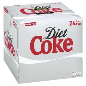 Regular and Diet Coke - 24 for £6.64 at Ocado - 28p per can