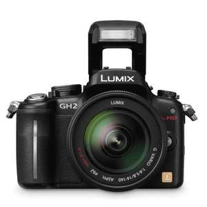 Panasonic Lumix DMC-GH2 with 14-42mm Lens Kit - Black @ Amazon