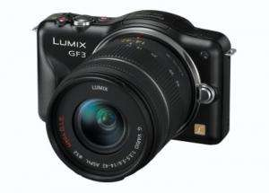 Panasonic Lumix DMC-GF3 Compact System Camera Black + 14-42mm Lens Kit potentially £301.99 after cashback instore or + £3.99 delivered @ BestBuy