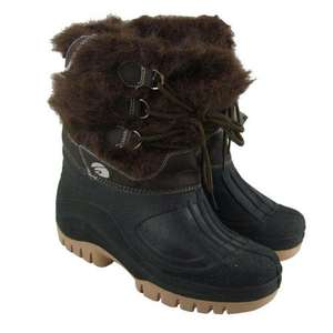 New Ladies Winter Snow Warm Mucker Boots Rain Wellies Womens Size UK 4-8 - Amazon - RRP £39.99