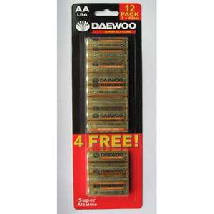 Daewoo Super Alkaline; 12 AA Battery Pack - £1.99 @ Smyths