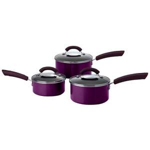 This Morning Aluminium 3 Piece Set Purple £25.00 @ E cookshop