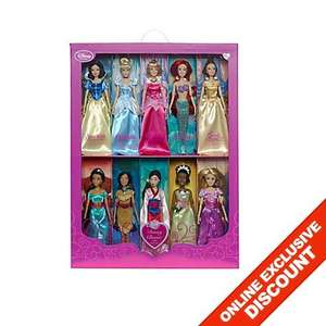 Disney Princess Set of 10 Classic Dolls £63.75 (* discount applied at checkout) @ Disney Store