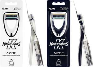 x10 Azor System Razor (with blades) and x10  mini-Travel Shave Gel £8.50 inc postage @ King of shaves