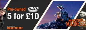 5 for £10 DVDs - Includes top films. Blockbuster Marketplace
