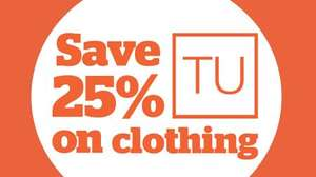 25% off all TU Clothing @ Sainsbury's