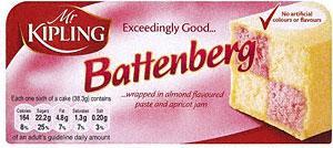 Mr Kipling Battenberg Cake (225g) £1.34 BOGOF @ Tesco