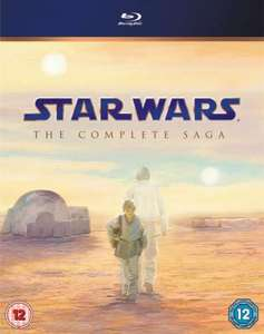 Star Wars: The complete saga Blu-ray - £45.95 (with code) @ Zavvi