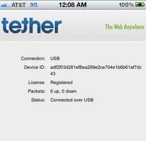 iTether iPhone Tethering app £10.49 (Be Quick Before it Get's Pulled From The Appstore)