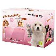 Nintendo 3DS Coral Pink with Nintendogs back in stock - £150  @ Tesco Direct