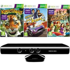 XBox 360 Kinect plus 3 game pack £119.99 @ Toys r us and Smyths toystore