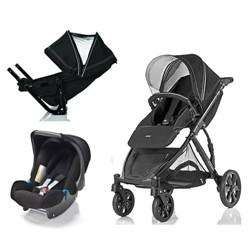 Britax B-Dual with FREE 2nd Seat Unit and Simply Black Baby-Safe Car Seat  and rain cover!!!