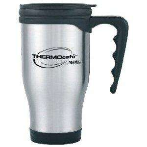 Thermos Thermocafe 2060 Steel Travel Mug, 0.4 Litre on Amazon £3.24 & Delivered FREE in the UK with Super Saver Delivery