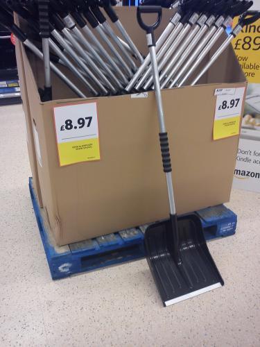 Heavy Duty Aluminium Snow Shovel £8.97 @ Tesco Instore
